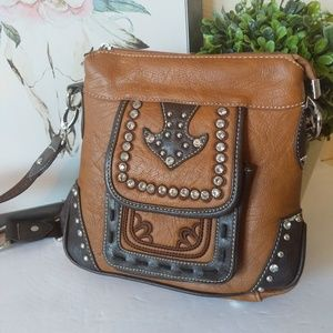 Montana West bling brown crossbody purse